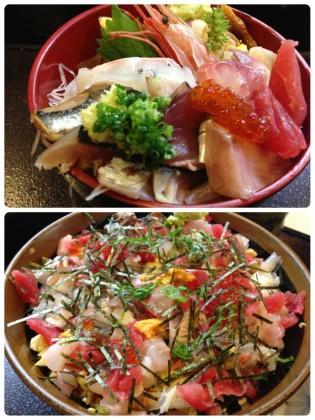 荒海丼とミニちらし