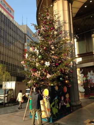 オープン前の日本橋三越玄関