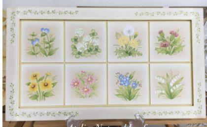 生徒さま完成作品 アトリエルナールカリキュラム レギュラーコースNo.12 《野の花のタイルフレーム》