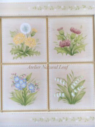 アトリエルナールカリキュラム中級No.12野の花のタイルフレーム