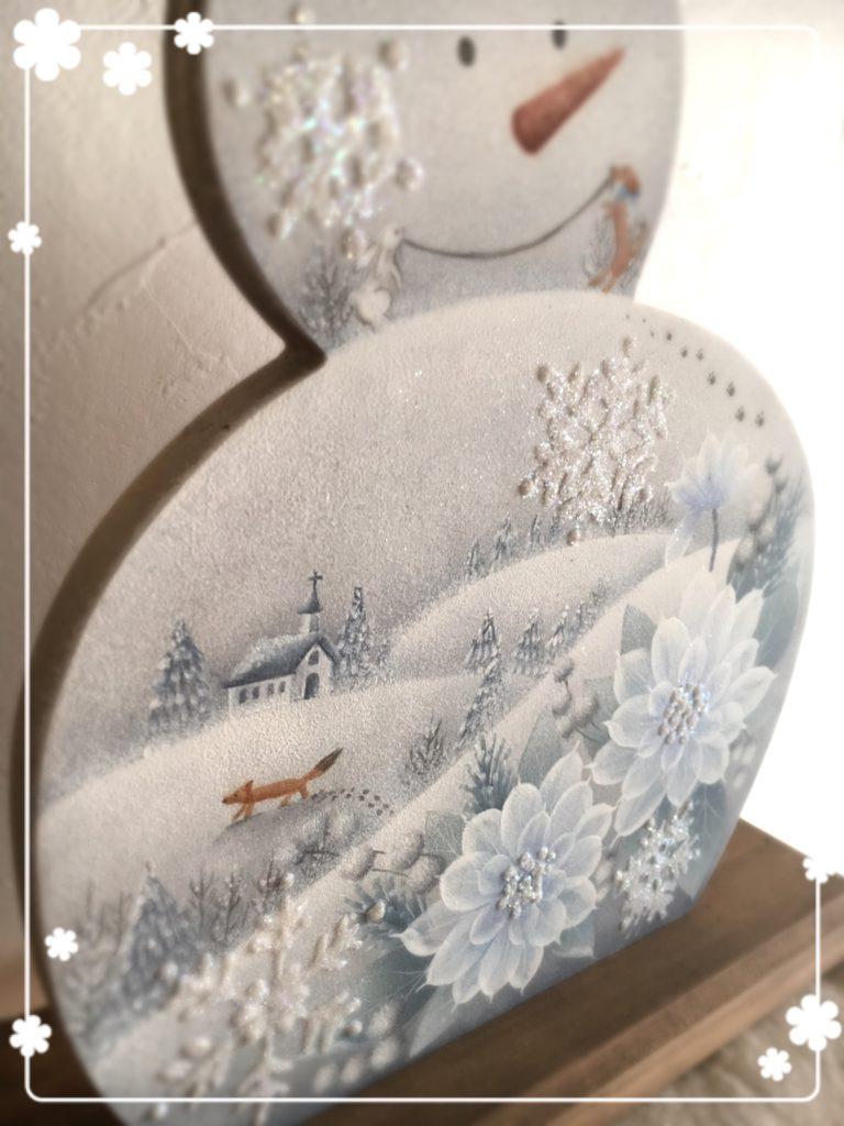 沖昭子先生デザイン Happy Snowman