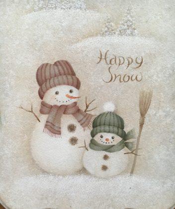Happy Snowman デザイン白井里美先生