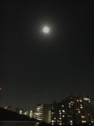 2018年1月の2回目の満月(ブルームーン)