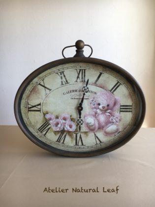 デザイン瀬戸山桂子先生薔薇とチーキーの時計