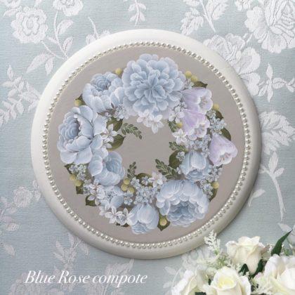 ブルーローズコンポート デザイン川島詠子先生 「バラの咲く庭より」