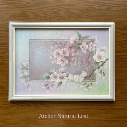 「 Cherry Blossoms 心に重なる春の色 」 デザイン押見素子先生 サン-ケイオリジナルフラワーコレクションカレンダーより